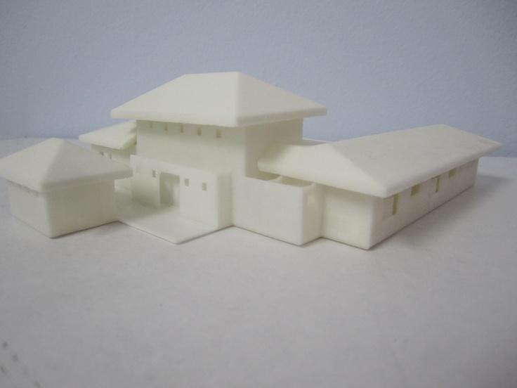 Impresi n 3d maqueta de vivienda vista externa for Impresion 3d construccion