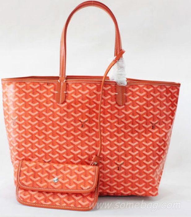 Goyard Replica Saint Louis Bag GM 2376-1 Orange