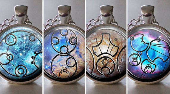 Design Your Own Gallifreyan Pendant Necklace, Custom Jewelry, Custom Gallifreyan