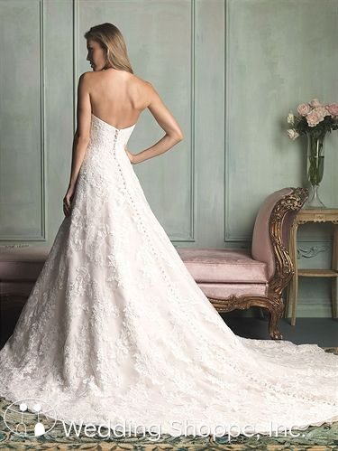 Allure Bridal Gown 9109  Buttons!!!