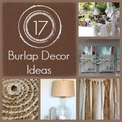 17 Burlap Decor Ideas Burlap Chalkboard Quotes and Decor