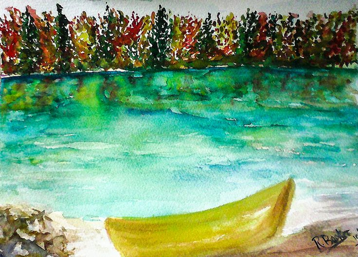 """""""Restful Place"""" Watercolor painting by Robin Booker"""