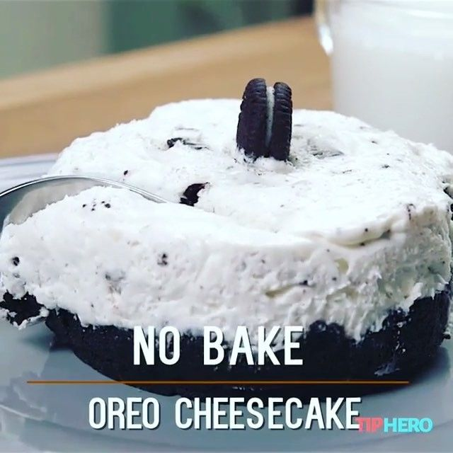 No bake oreo cheesecake  Credit: @tiphero Tag who'd love this ❤️  Jammie