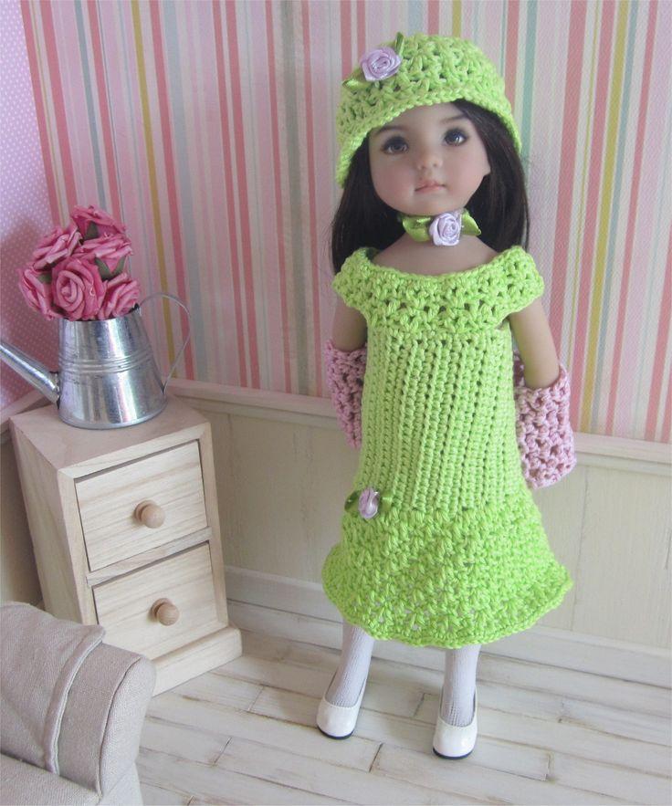 66- FICHE PATRON Tenue Primevère au crochet pour poupée Little Darling, Les Chéries de Corolle ou Paola Reina : Jeux, jouets par atelier-crochet