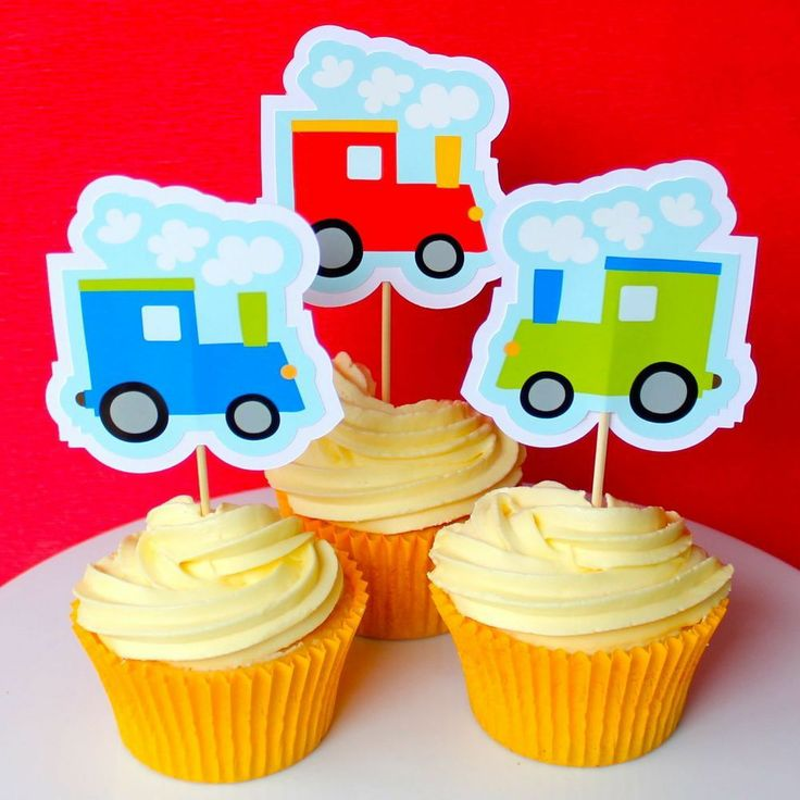 Train Cupcake Toppers - 6 Pack