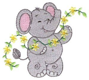 Little Nellie is a our female counterpart to our very popular Little Jumbo set and is an adorable set of 10 cute as can be elephants!  Great for babies and young childrens, nursery decor, quilts and baby items!
