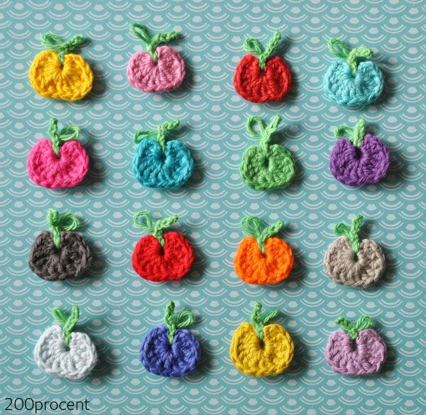 200procent: Hæklede mini-æbler - DIY