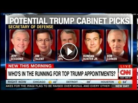John Avlon & Dana Bash on Who's in the running for top Donald Trump Appointments? @JohnAvlon #PEOTUS: ◙ { Thanks for stopping by my…