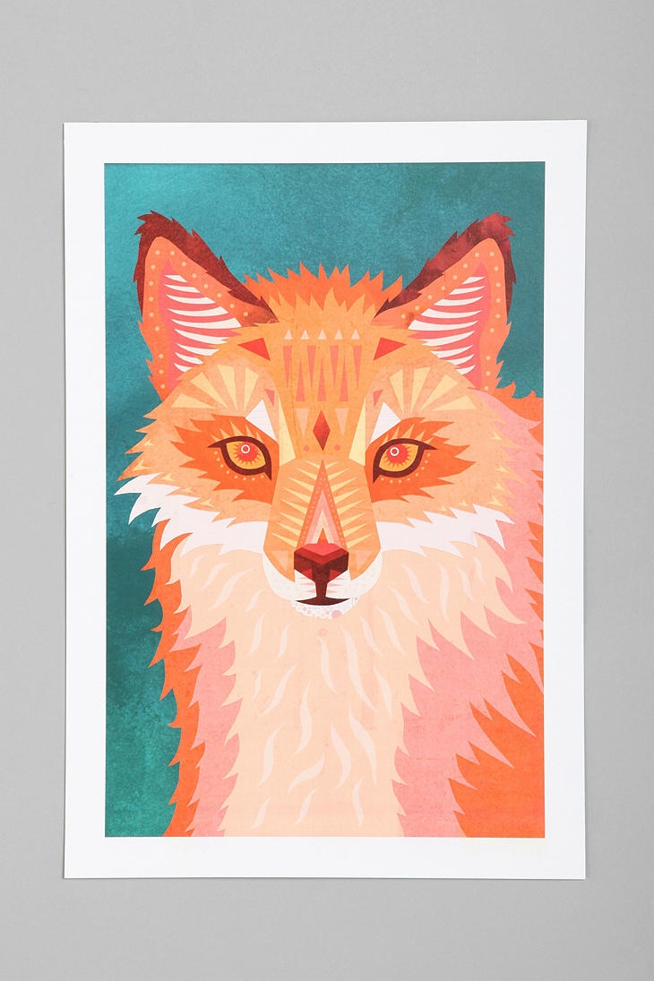 Tia Eastwood For Society6 Red Fox Art Print