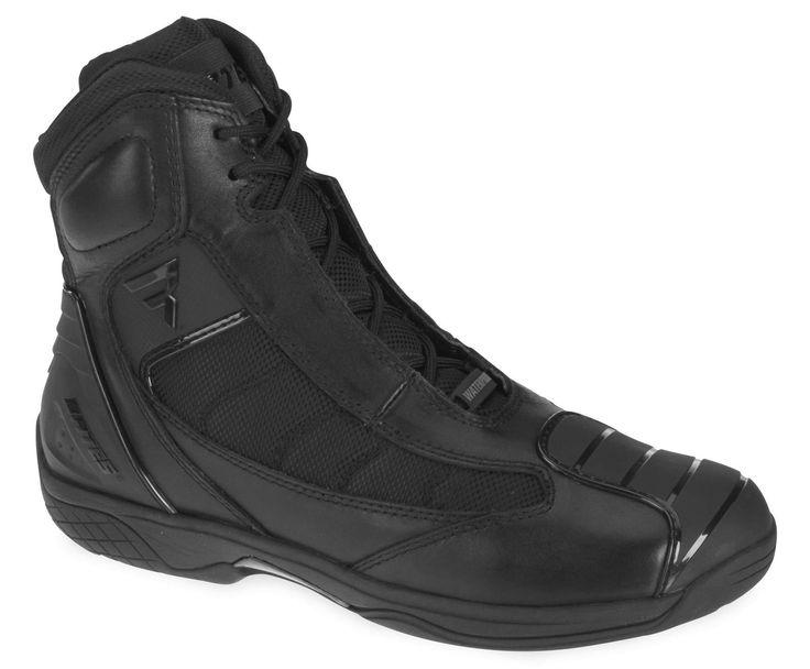 Bates Men's Beltline Black Waterproof Lace Up Street Motorcycle Riding Shoe
