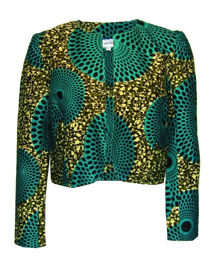African-print jacket