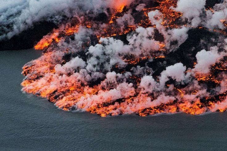 Las impactantes fotos de la erupción del volcán Bardarbunga - Diario Registrado