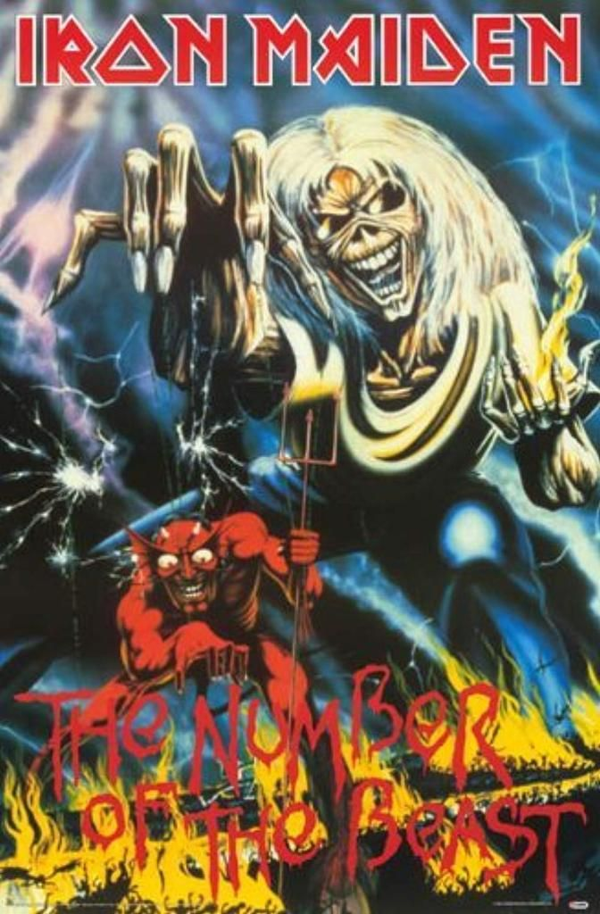 Iron Maiden Poster The Number Of The Beast Capas De Albuns