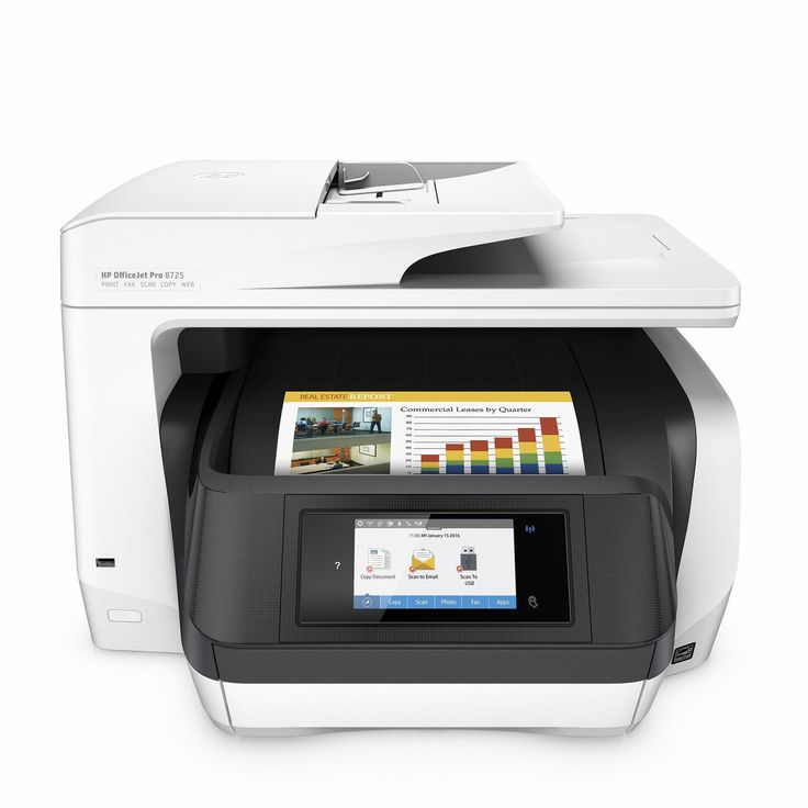 HP OfficeJet Pro 8725 All-in-One Digital Wireless Printer Scanner and Fax