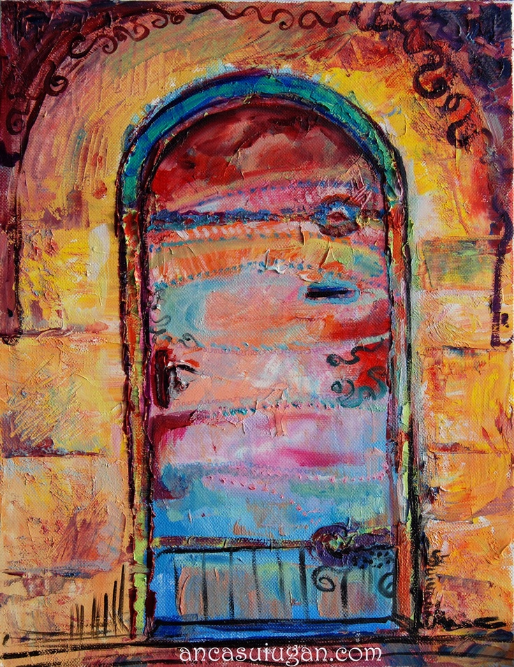 Colorful door :) Painting in oil on canvas