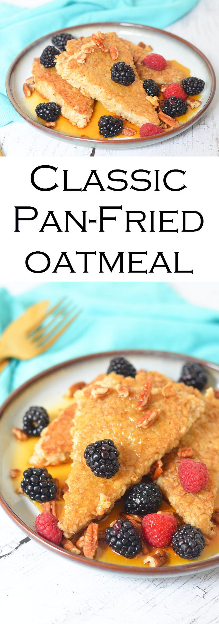 Enjoy this classic homemade pan-fried oatmeal. Use leftover oatmeal in this delicious spin on breakfast sure to make every heart healthy + happy!