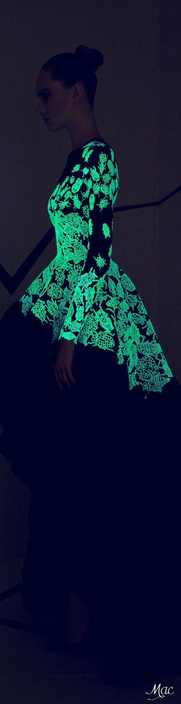 Fall 2015 Couture Rami Kadi (Sewn with Luminous Threads and Sequins)