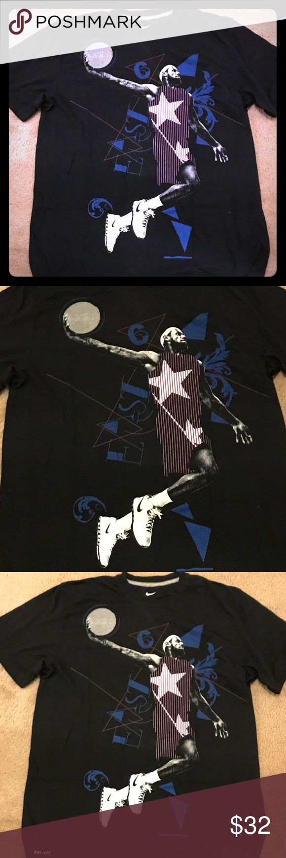 Men's Nike Lebron James shirt NWOT NWOT, men's, Nike dri fit, size large, black, Lebron James T-shirt Nike Shirts Tees - Short Sleeve