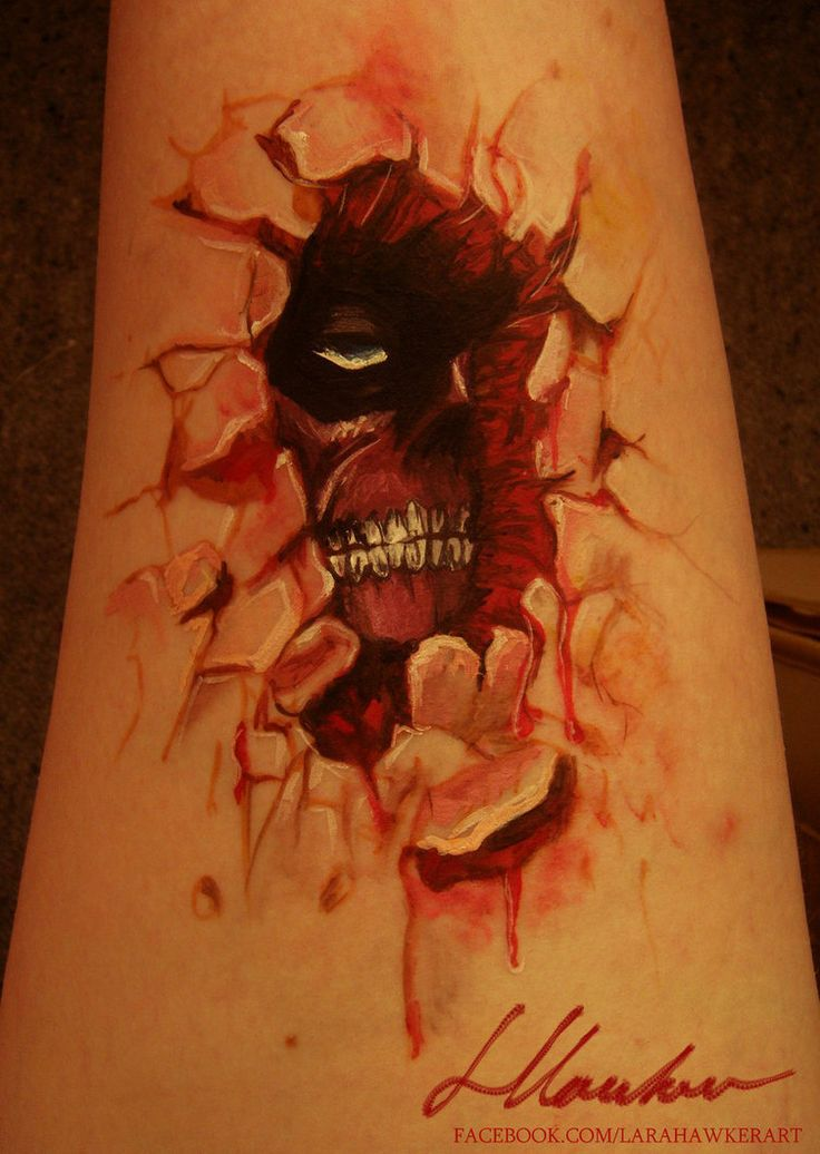 Attack on titan tattoo attack on titan bodypaint by for Attack on titan tattoo