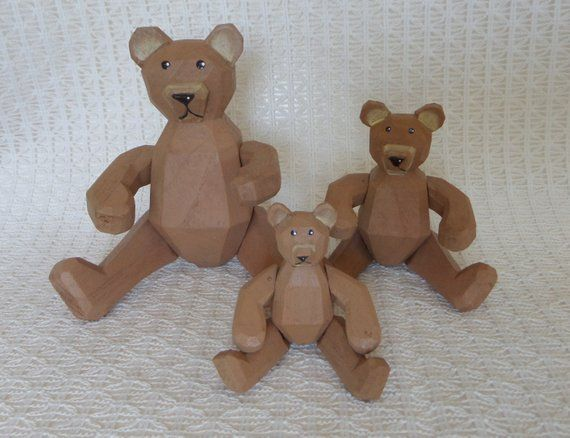 Pics of vintage wooden toy bears