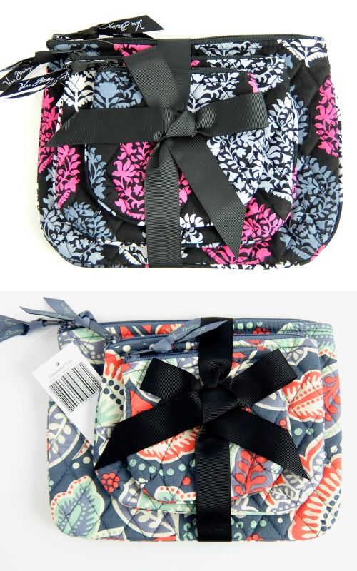 8a4e32c9c6 Vera Bradley Cosmetic Bag Trio Zip Bag Gift Set Nomadic Floral Northern  Lights  VeraBradley
