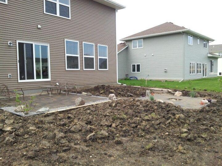 Viewalongtheway Backyard : Backyard patio + firepit, no sod yet  House (Ours & My Dream One
