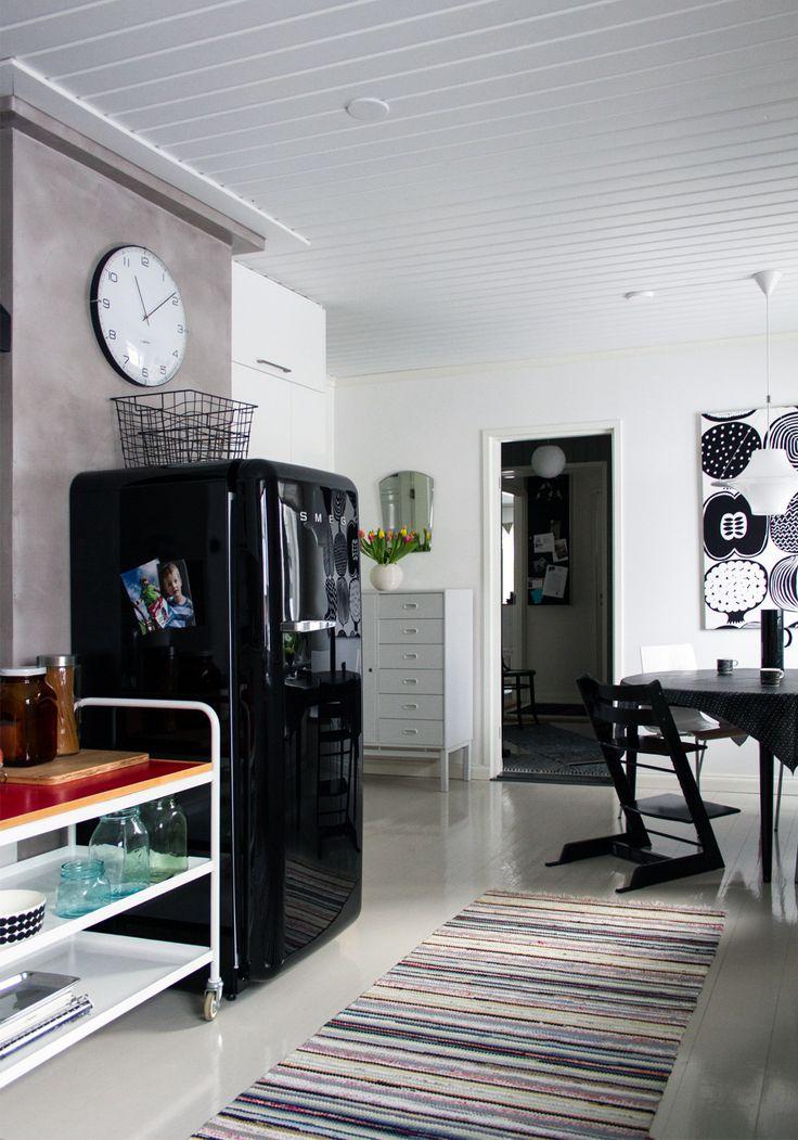 Keittiö, retro, vintage, vanhat kalusteet, Smeg, Stokke … Kitchen, retro, vintage, old furniture, Smeg, Stokke...