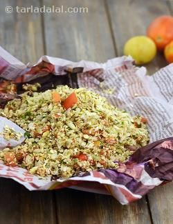 Sukha Bhel is now a world famous snack, as it is not only tasty but convenient too, for both serving at parties and for carrying along in a picnic basket! You can make the sukha chutney is advance, keep the dry ingredients also ready, and toss it up any time you feel like. Here is a healthier version of the traditional recipe, made by reducing the quantity of puffed rice and adding more of oats and beaten rice, which are not only full of iron and fibre but also low in glycemic index, which…