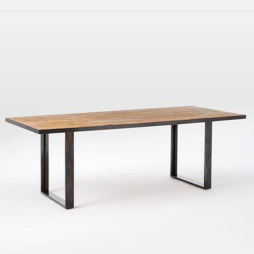 Industrial Oak Steel Dining Table West Elm 86 Quot 1500