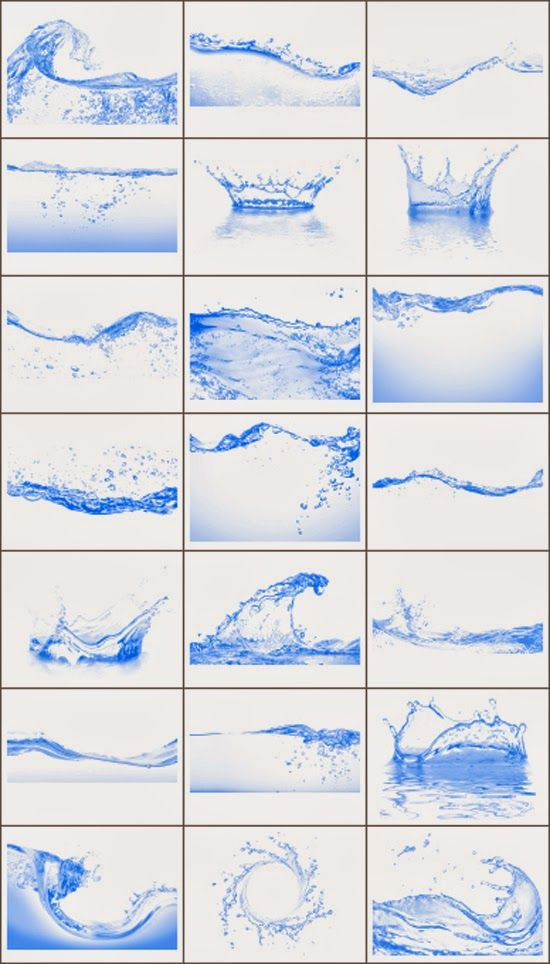 21 Free Hi-Res Water Photoshop Brushes