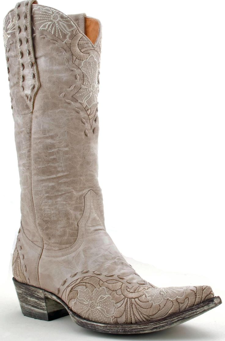 Womens Old Gringo Erin Boots Bone #L640-3 -- Bridal boots!