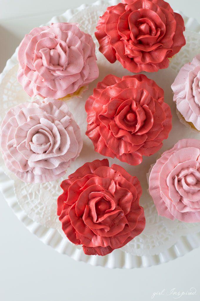 Best 20+ Rose cupcake ideas on Pinterest Rose frosting ...