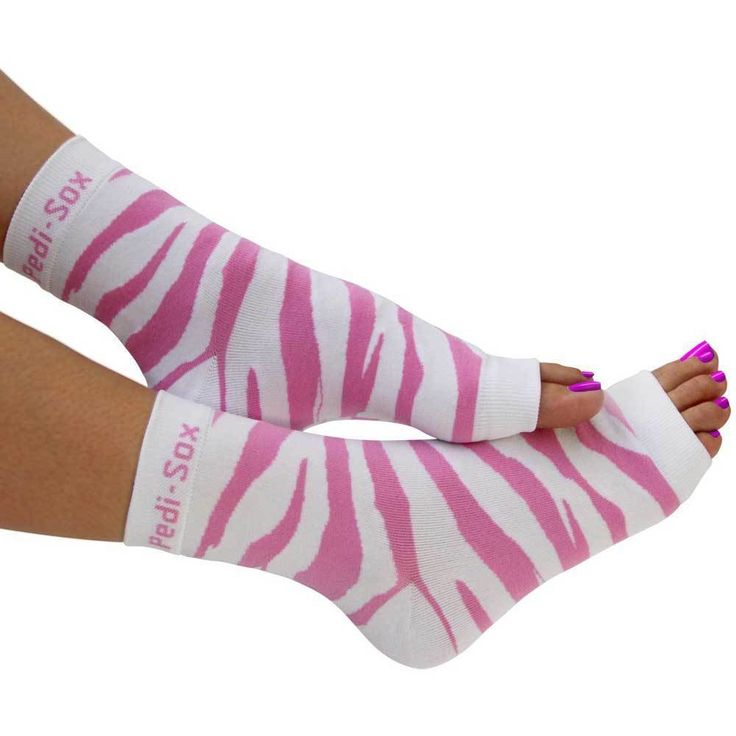 Pedi-Sox Pink Zebra Pedicure Socks - Ultra Collection
