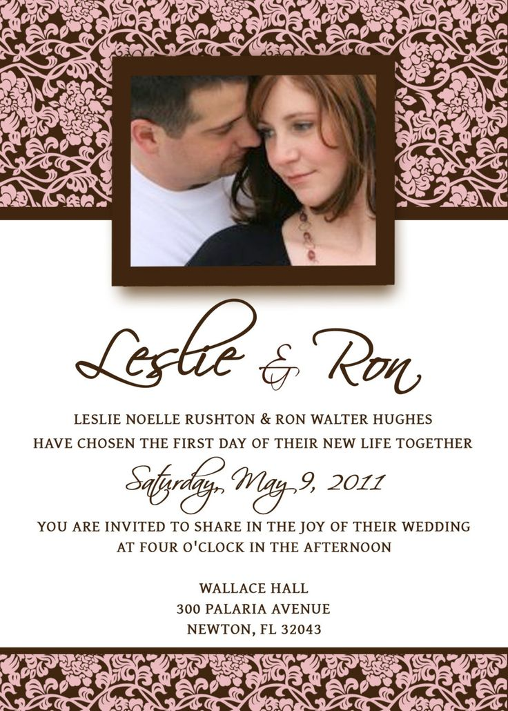 Homemade Wedding Invitation Template