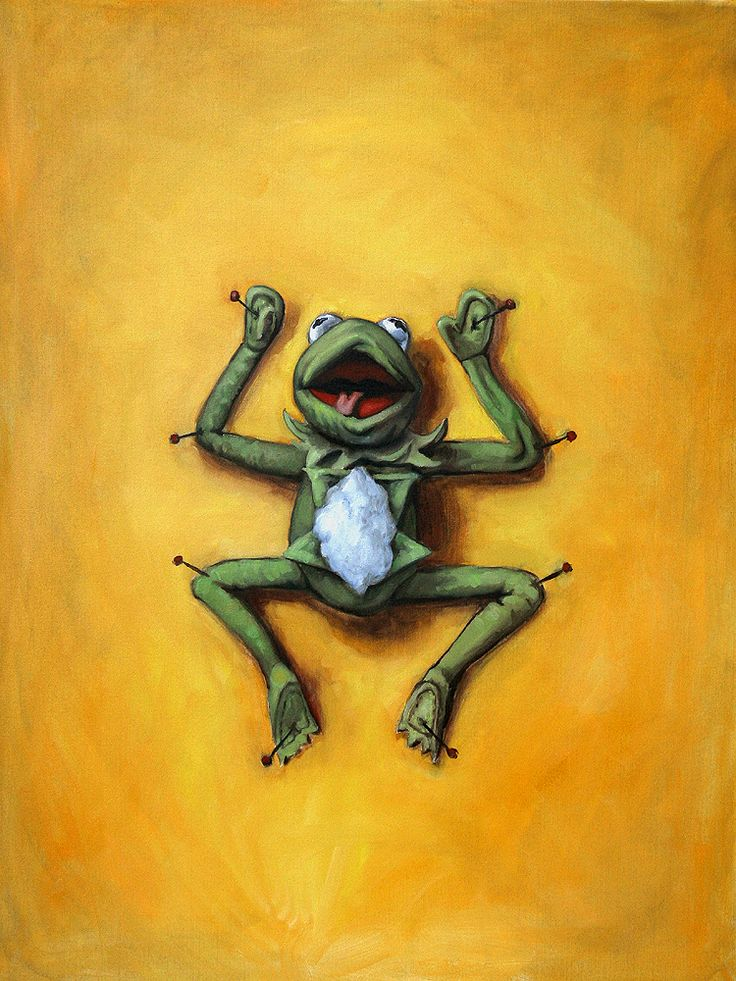 Biology--poor Kermit!  He was right, it ain't easy being green! :)