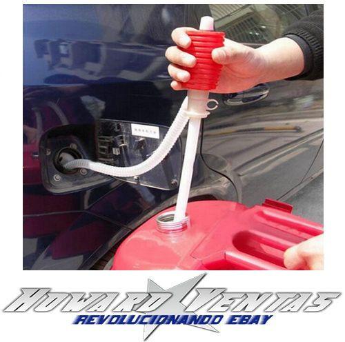 Bomba Manual Para Extraccion De Liquidos Extractor Gasolina Diesel Coche Moto | eBay