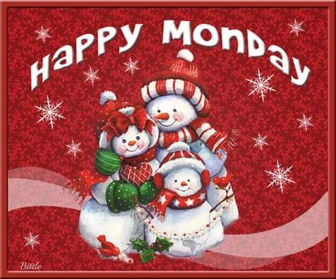 Happy Monday Snowman Quote