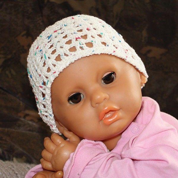 Hol Dir jetzt die gratis Anleitung zum Häkeln der Baby-Mütze // Kleinkind-Mütze für den Sommer + fang gleich an mit Häkeln. Probiers einfach mal aus.
