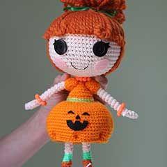 Lalaloopsy Pumpkin Candle Light amigurumi crochet pattern by Epic Kawaii