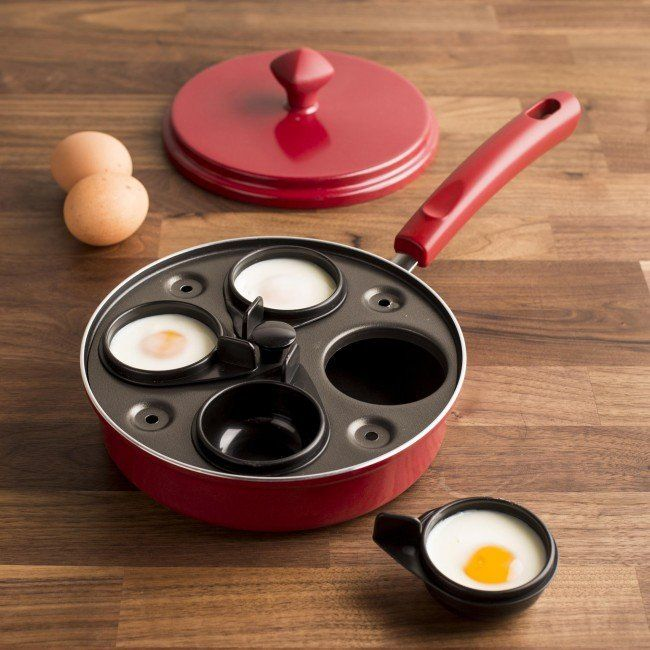 Farberware Egg Poaching Pan With 4 Inserts Red Or Black