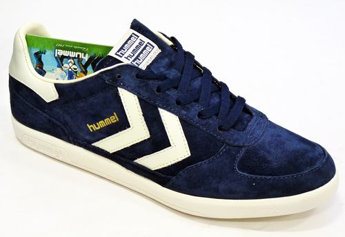 HUMMEL Victory Low Indie 70s Mod Suede Trainers DB | atomretro.com