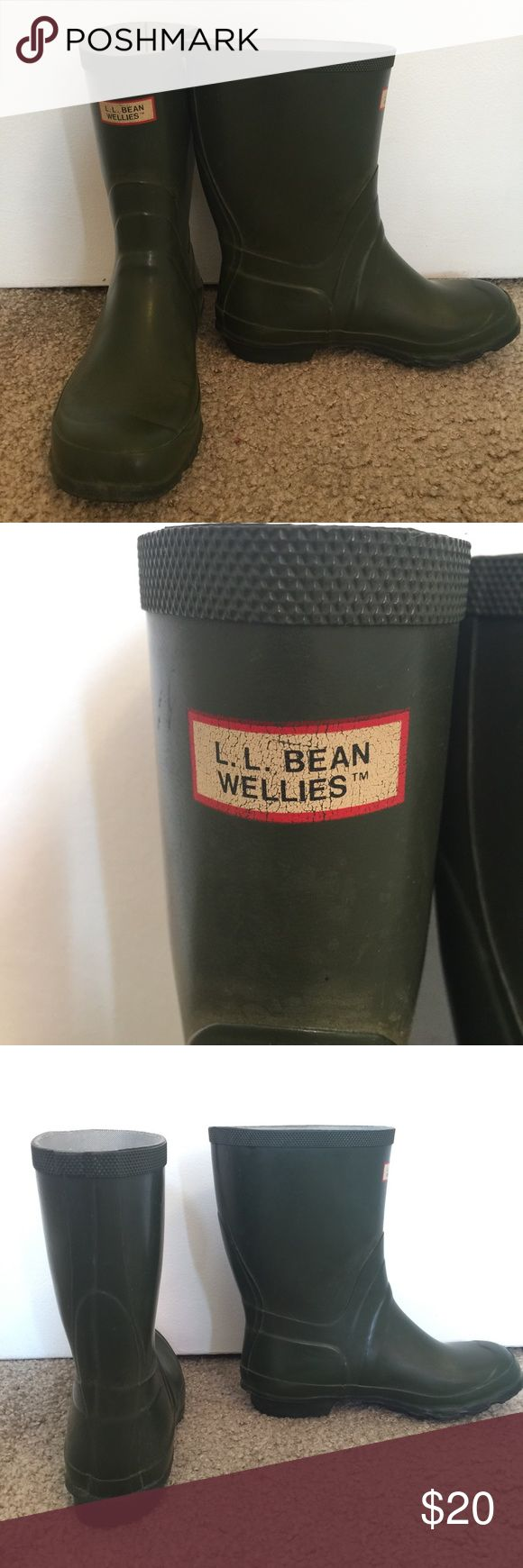 L.L. Bean Wellies Rain Boots Size 6 These rain boots are cute and functional! You can buy inserts to easily convert them into warm, waterproof snow boots as well. They are completely water resistant and easy to clean. L.L. Bean Shoes Winter & Rain Boots