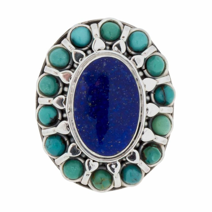 Ring-Lapis Lazuli, Turquoise and Sterling Silver