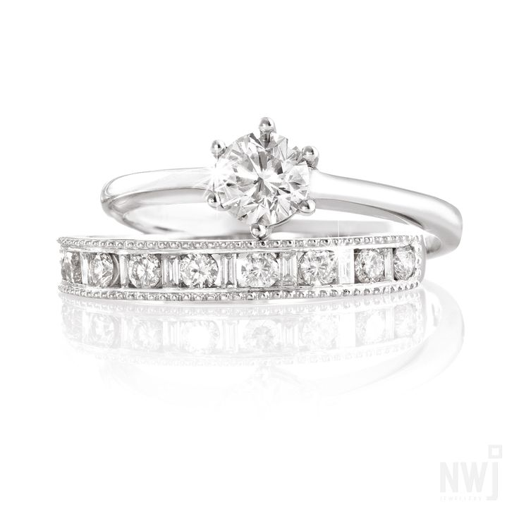Diamond Collection: 18ct White Gold and Diamond Engagement and Wedding Rings By NWJ *Valid for 2013