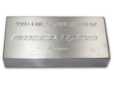 Engelhard 100 Ounce Silver Bullion Bar