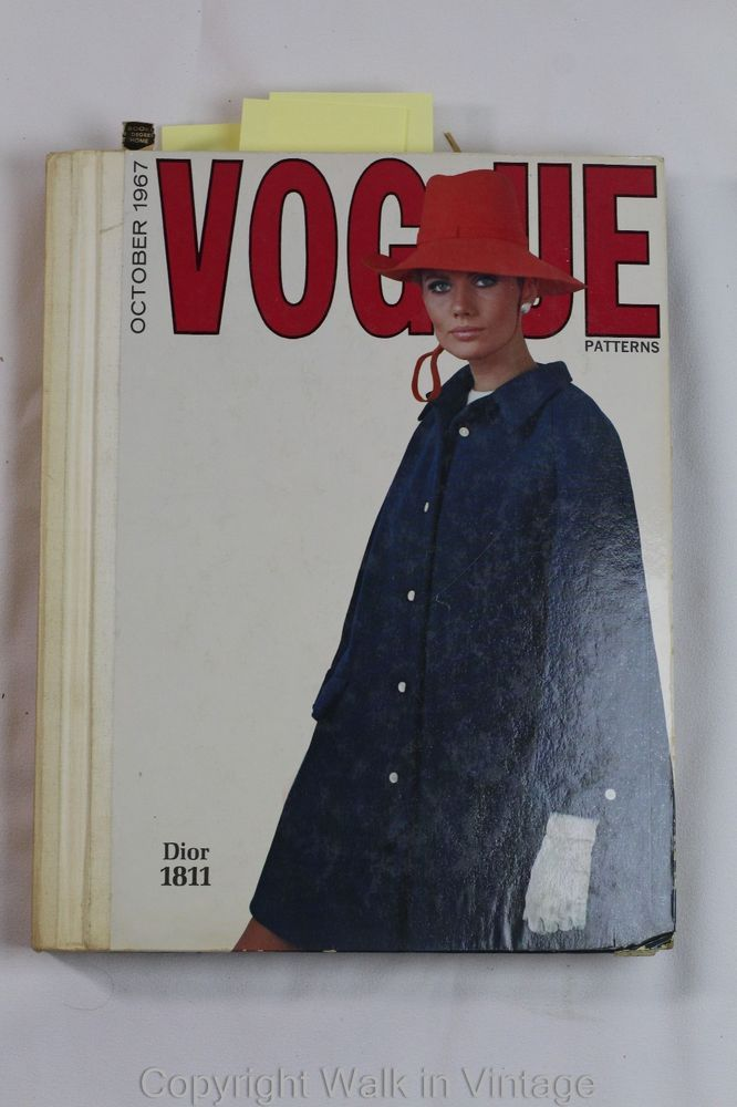 1967 Vogue Patterns Store Counter Catalog Book Dior Designer Fashion 60s Printed in October 1967 Includes famous designer patterns (Dior, Patoua, Cardin, Givenchy, Saint Laurant etc) ~9 lbs sld 150+7.41 5/11/16