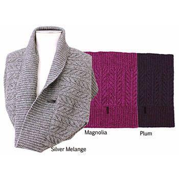 New Zealand Merinomink Merino Wool & Possum Fur Cable Snood