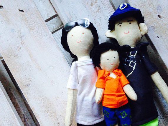 Handmade custom family dolls by apacukababa on Etsy