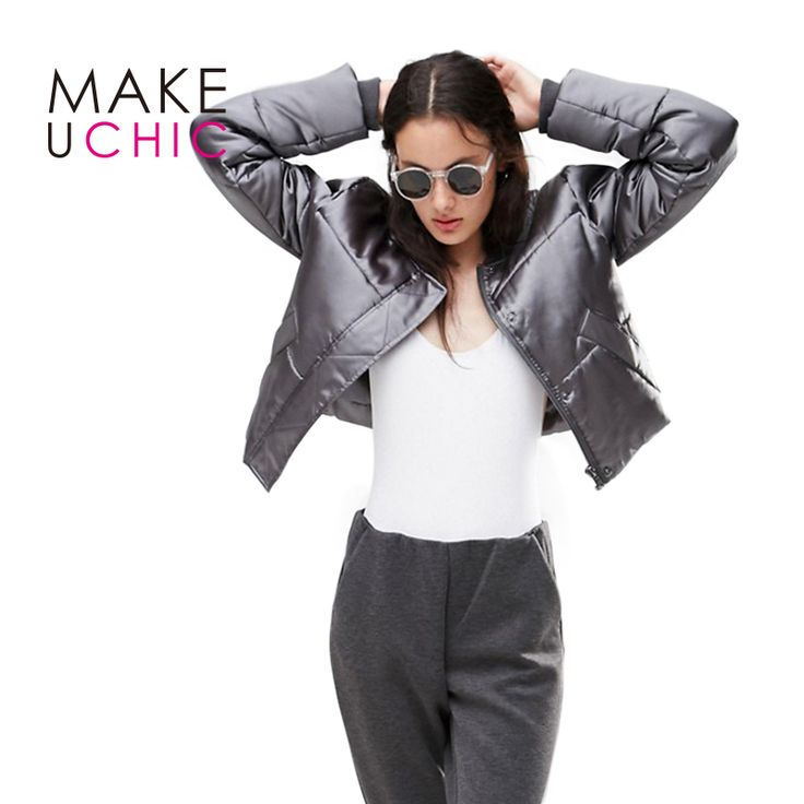 MAKEUCHIC Apparel Solid Color Women Jacket Streetwear Chic Long Sleeve Short Ladies Tops Casual Shaping Female Bomber Jacket #Affiliate