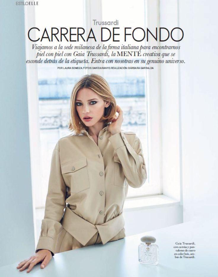 Gaia Trussardi featured in Elle Spain - August 2015 issue